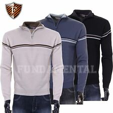 New Men Cutting Edge Light Weight Warm Knitted Jumper Colour:Stone Size: Small S