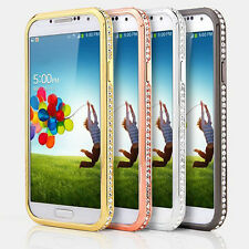 New Colorful Metal Cover Bumper Rhinestone Bling Case For Samsung Galaxy S4 9500