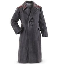 Vintage Soviet Bloc Army Grey Wool Military Coat Genuine Greatcoat Full Length