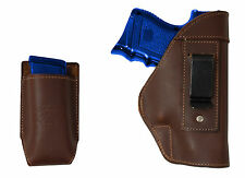 NEW Barsony Brown Leather IWB Holster + Mag Pouch Smith & Wesson Compact 9mm 40