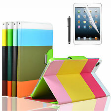 Hybrid Leather Folio Wallet Case Cover Stand For iPad Mini 1 & 2 Retina Display