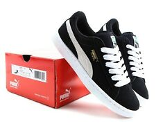 PUMA SUEDE JR Sneakers GS 355110-01 Black White Sz 4Y-7Y Fast Shipping