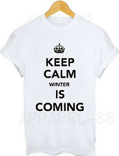 KEEP CALM WINTER T-SHIRT - Board GAME Season series OF THRONES DVD box 1 2 3 4