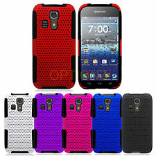 For Kyocera Hydro Icon C6730 Dual Layer Hybrid APEX Net Mesh Case Cover