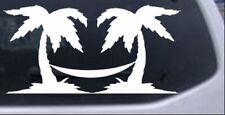 Palm Trees with Hammock Beach Car or Truck Window Laptop Decal Sticker