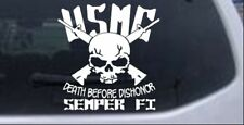 USMC Death Before Dishonor Semper Fi Car or Truck Window Laptop Decal Sticker