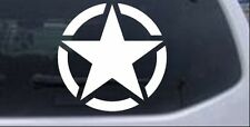 Military Jeep Star Segmented Car or Truck Window Laptop Decal Sticker