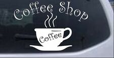 Coffee Shop Cup Car or Truck Window Laptop Decal Sticker