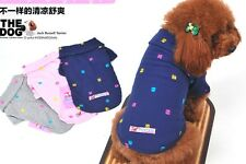 Pet Dog supplies costume Embroidered Clothes Pure Cotton Polo T-Shirt XS S M L
