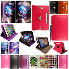 "Universal 8"" inch Leather Folio Case Cover With Stand For Android Tablets+Stylus"
