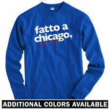 Made In Chicago Long Sleeve T-shirt - Italian - Windy City - LS  - Men and Youth