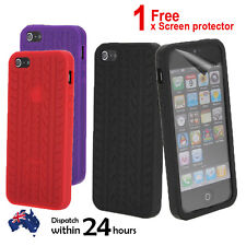 Black Tyre Silicone Tread Skin Back Soft Cover Case for Apple iPhone 5 5S