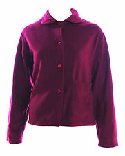 Superb Cosy Ladies Fleece Bed Jackets Bed Jacket - Maroon Burgundy - 4 Sizes