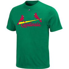 Majestic Men's St. Louis Cardinals Official Wordmark Kelly Green Tee
