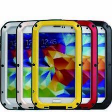 Aluminum Metal Gorilla Glass Shock Waterproof Case for Samsung Galaxy S5 I9600