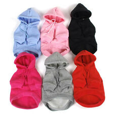 Pet Puppy Dog Hoodie Coat Warm Sweatshirts Pet Apparel Dog Clothes Size XS-XXXL
