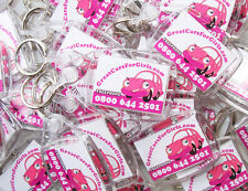 Promotional KEYRINGS - Custom made to order / Printed with your logo & text