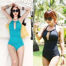women one-piece swimsuit Big Cups sexy slim swimwear one-piece women's swimwear