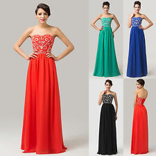 ON SALE~New Sweetheart Formal Chiffon Long Bridesmaid Dresses Prom Dress Gown