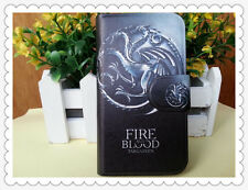 TV Game of Thrones Stark Fire Blood dragon Wolf leather flip case for LG Optimus