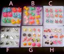6~8 Pairs Wholesale Lot Sweet Kawaii Candy Kids Teen Young Stud Earrings-Mouse