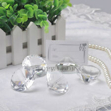 10/20PCS Clear Crystal Place Card Holder Wedding Favors Shower Table Decoration