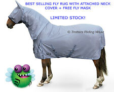 horse fly rug combo attached neck cover + free fly mask all sizes in stock