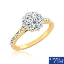 0.64 Ct Certified Real Diamond Solitaire Engagement Ring in 14K Hallmarked Gold
