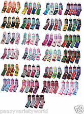 6 Pack Boys and Girls Children's Kids Socks Designer Character Cotton All Size