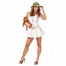 Womens Sexy Safari Costume Zoo Keeper African Australian Theme Crocodile Hunter