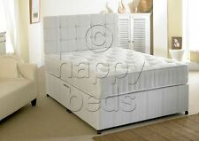 2ft6 Small SINGLE DIVAN BED Set, STORAGE and Headboard with ORTHOPAEDIC MATTRESS