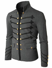 Mens Jacket with Button Detail GAK08 BLACK&GRAY