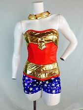 Sexy Wonder Woman Super Hero Adult costume! Corset complete Cosplay Sizes S-2XL
