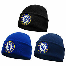 Chelsea FC Official Football Gift Knitted Bronx Beanie Hat Crest (RRP £9.99!)