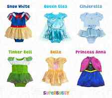 NEW CHILDRENS TODDLER GIRLS DISNEY PRINCESS FANCY DRESS UP COSTUME PARTY OUTFITS