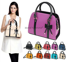 WOMENS DESIGNER STYLE BOWKNOT GRAB BAG PURSES LADIES SHOULDER BAG TOTE HANDBAG
