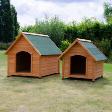 OXFORD DOG KENNEL WOODEN PET HOUSE APEX ROOF OUTDOOR SHELTER WOOD HOME