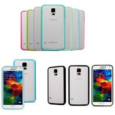 Bumper Transparent Soft Back Case Cover For Samsung Galaxy S5 SV I9600 I9605 4G