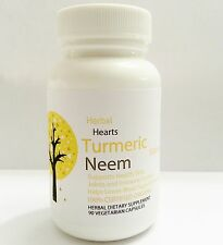 Turmeric  and Neem 1000 mg-Highest Strength!120 Capsules-100% Organic Certified.