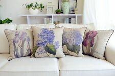 45X45cm Vintage Country Floral Cotton Linen Throw Pillow Case Cushion Covers