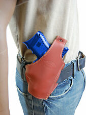 New Barsony Burgundy Leather Pancake Gun Holster Smith&Wesson Compact 9mm 40 45