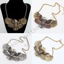Hot Fashion Retro Eagle Style Metal Chain Necklace Pendant Choker Collar Jewelry