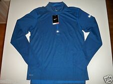 New with tag Nike Men 1/2 zip Wool dri-fit running shirt Varsity Blue 502897-449