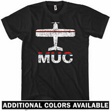 Fly Munich MUC Airport T-Shirt - DE Germany Lufthansa Plane - Men / Kids XS-4XL