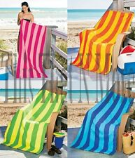 "Cabana 30"" x 60"" Stripe Pool Beach Towels Pink Orange Green Blue NEW"