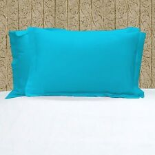 1000TC 100% EGYPTIAN COTTON SET OF TURQUOISE PILLOW SHAMS CHOOSE SIZE AND COLOR