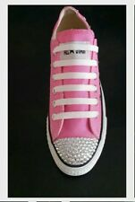 All Colours Converse Trainers/Shoes With Swarovski Crystals & Studs In Sizes 4-8