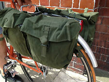 CANVAS BICYCLE CYCLE PANNIERS TOURING MOUNTAIN BIKING, RACK OR BAR MOUNT [72568]
