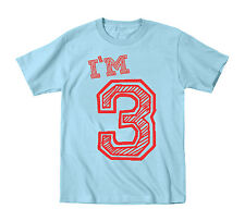 I'm 3 Three 3Rd Birthday Baby cute  newborn  funny Baby Blue Infant T-Shirt