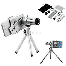Universal 12X Magnifier Zoom Aluminum Camera Telephoto Lens Kit for Smart Phone